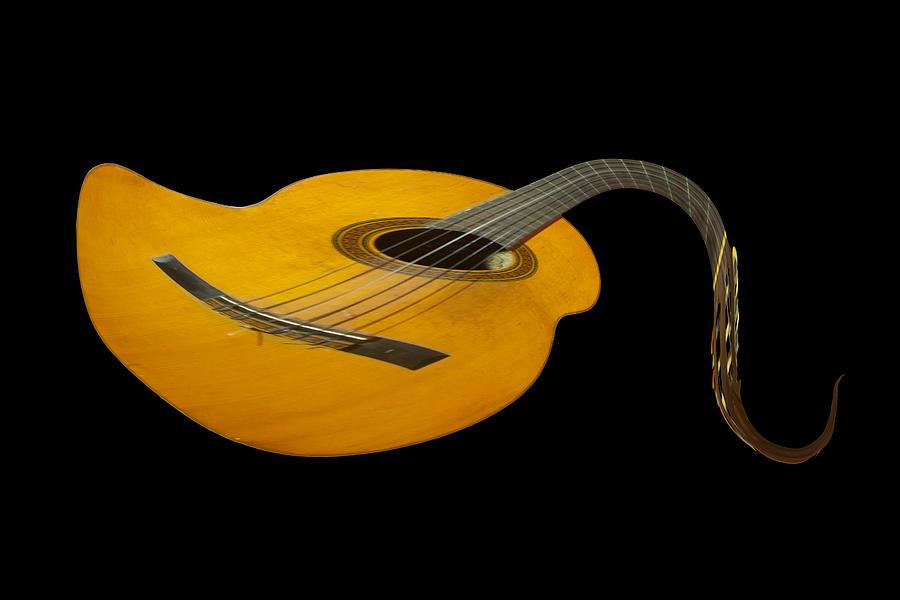 Folk Photograph - Jazz Guitar 2 by Debra and Dave Vanderlaan