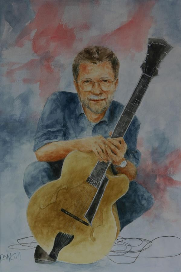 Portraits Painting - Jazz Guitarist by Don Cull