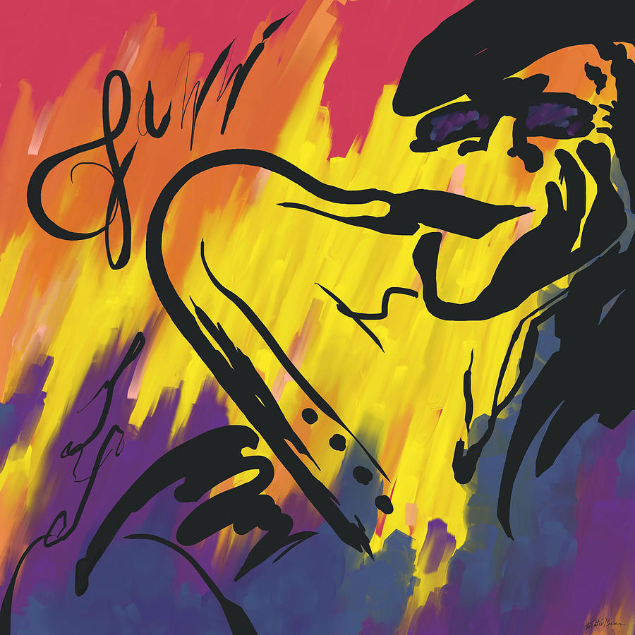 Music Painting - Jazz It Up by Kristie Mercer