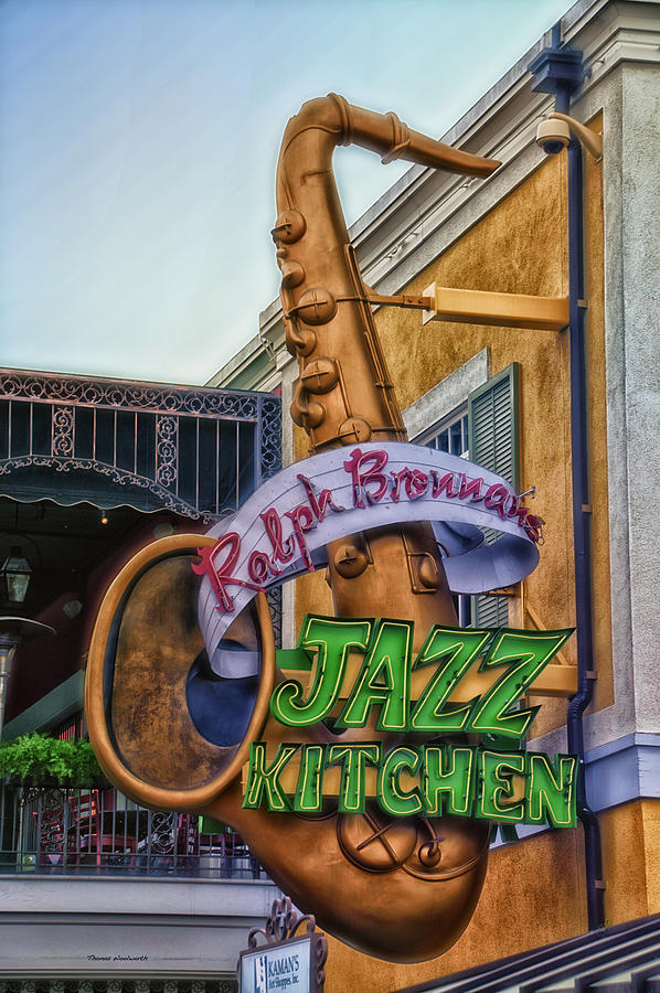 Disney Photograph - Jazz Kitchen Signage Downtown Disneyland by Thomas Woolworth