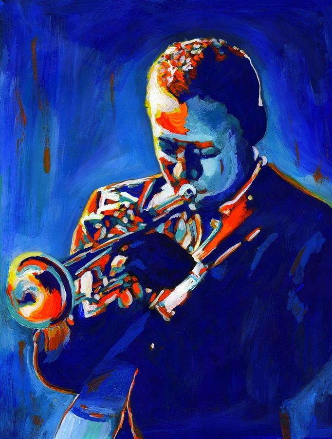 American Painting - Jazz Man Miles Davis by Vel Verrept