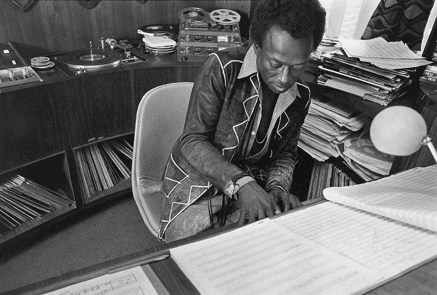 Jazz Musician Miles Davis Composing Photograph by Mark Patiky
