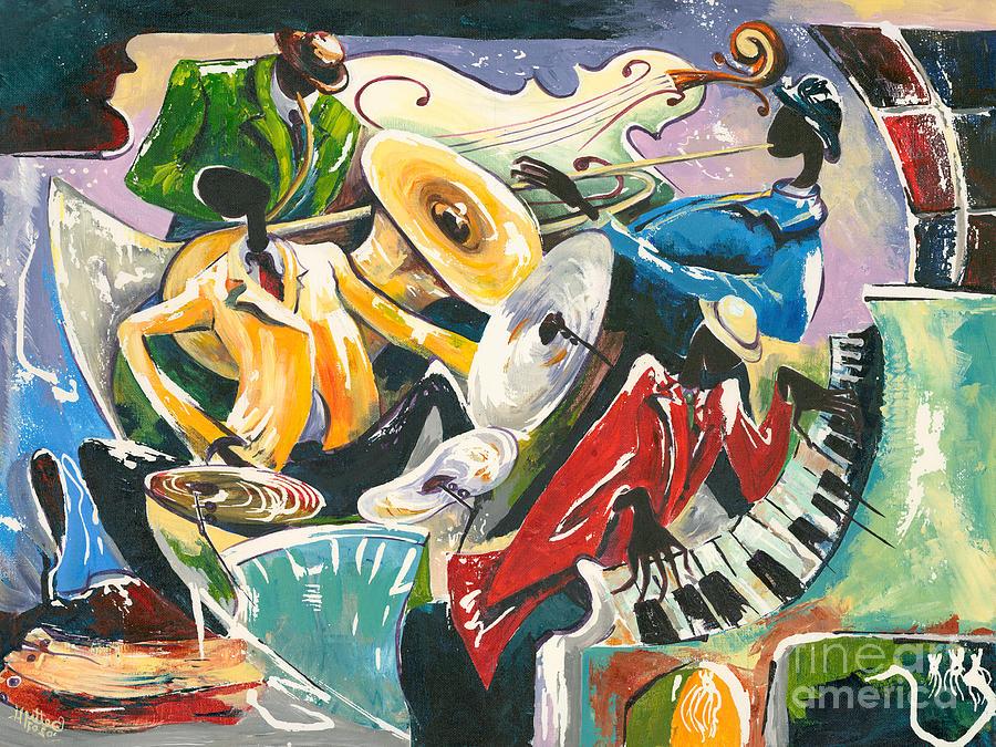 Canvas Prints Painting - Jazz No. 3 by Elisabeta Hermann
