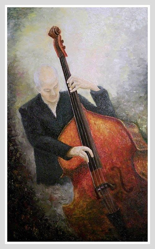 Jazz Painting - Jazz Player by Draia Coralia