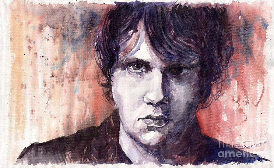 Jazz Painting - Jazz Rock John Mayer by Yuriy  Shevchuk
