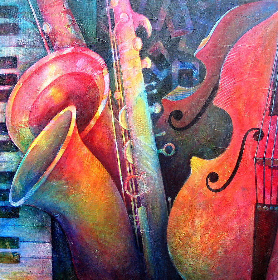 Music Painting - Jazz  by Susanne Clark