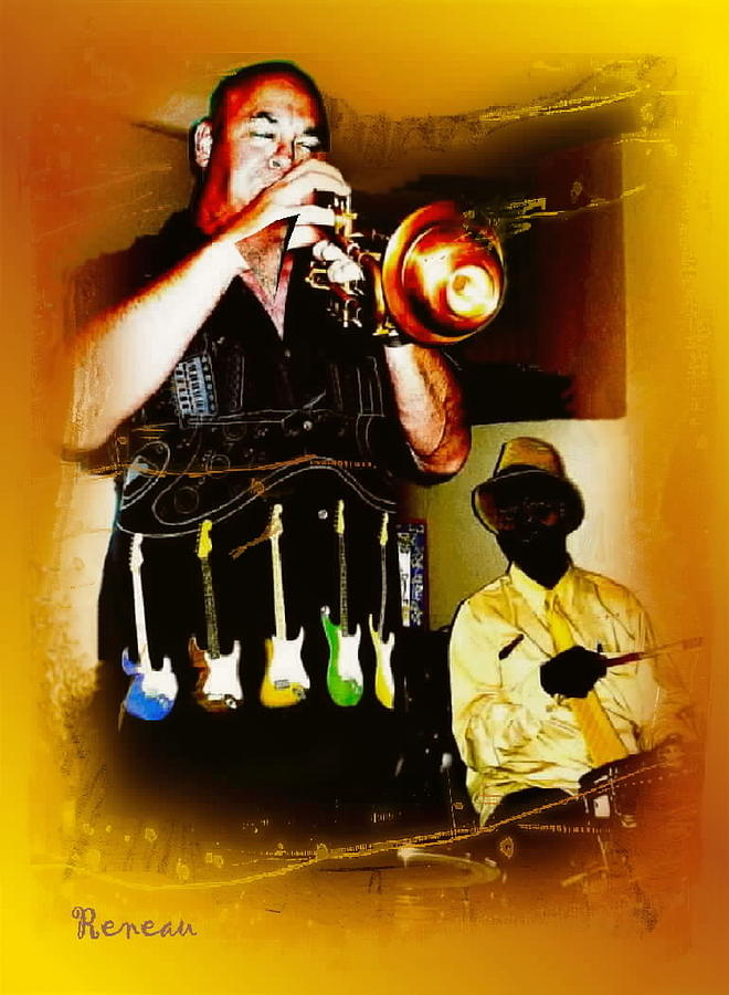Trumpets Photograph - Jazz Trumpet And Drums by Sadie Reneau