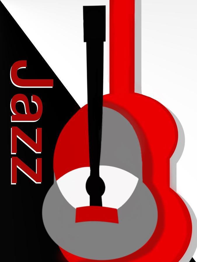 Jazz Digital Art - Jazz Vibe by Christine Fournier