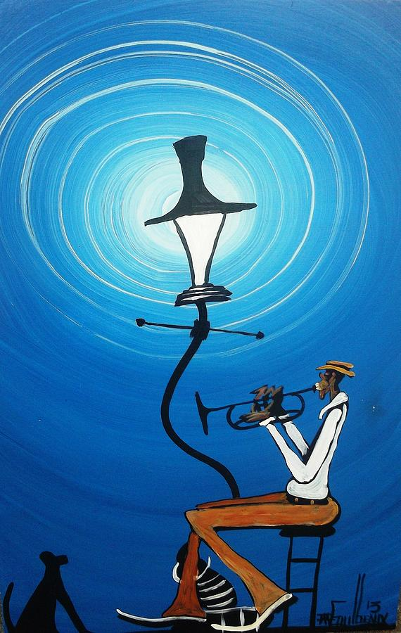 Dog Painting - Jazz With My Dog by Guilbeaux Gallery