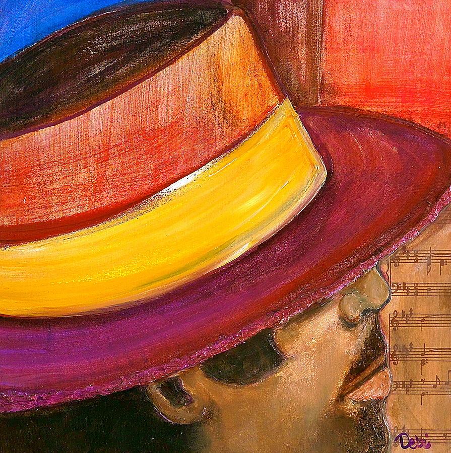 Man Painting - Jazzman by Debi Starr