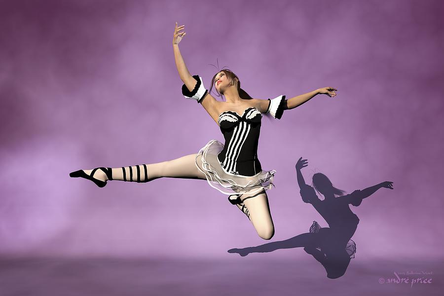 Prima Ballerina Digital Art - Jazzy Jete by Andre Price