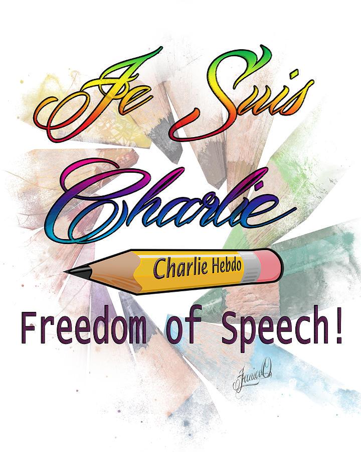 Cartoonist Digital Art - Je Suis Charlie by Janice OConnor