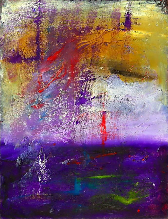 Abstract Painting - Paris Je Taime...i Love You by Vel Verrept