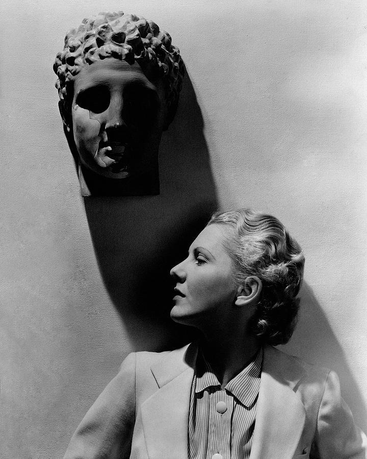 Jean Arthur Under A Bust Photograph by Lusha Nelson