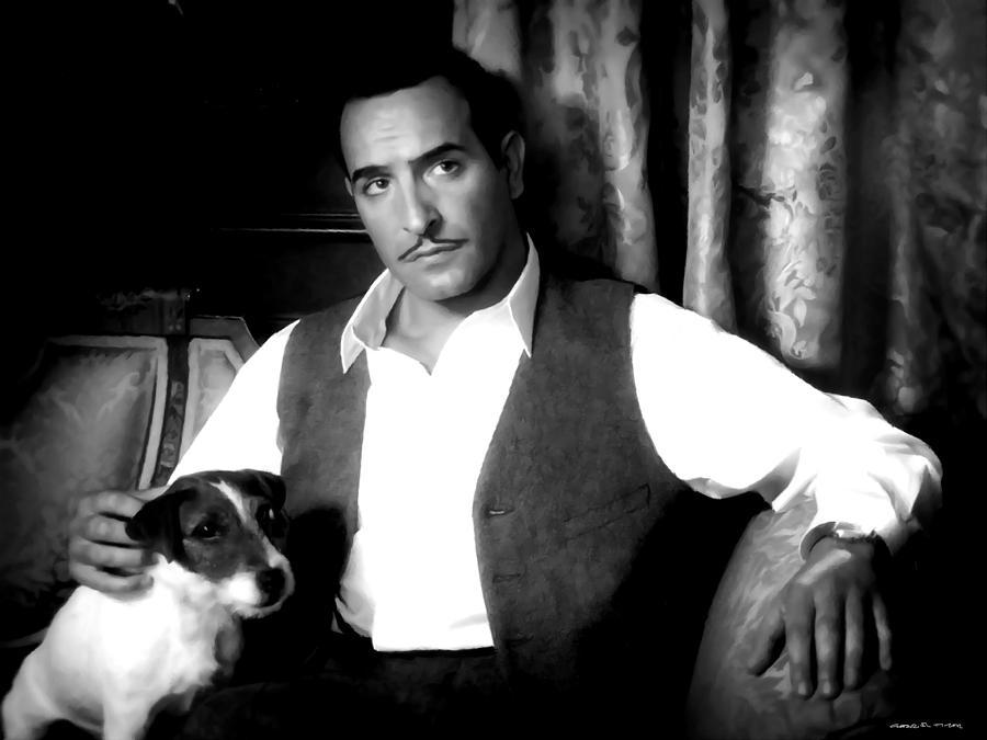 Jean Dujardin Digital Art - Jean Dujardin in the film The Artist by Gabriel T Toro
