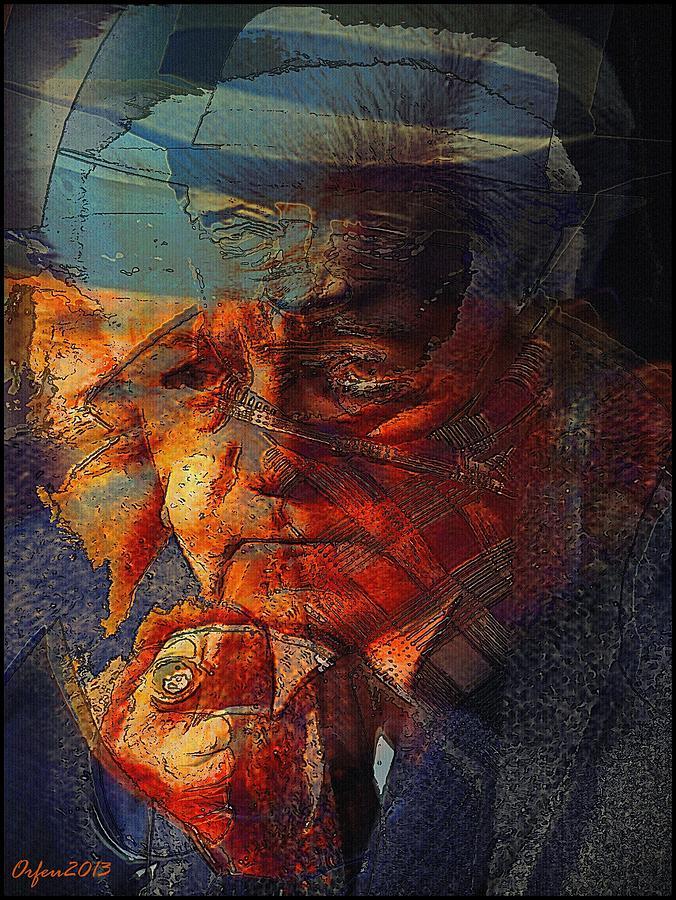 France Digital Art - Jean Gabin by Orfeu De SantaTeresa