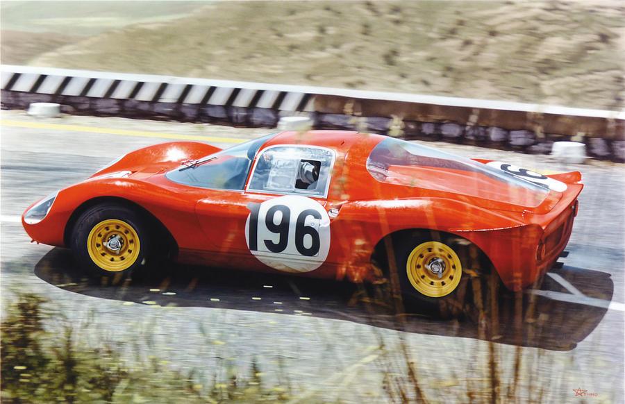 Ferrari Dino Painting - Jean Guichet - Ferrari Dino 206 - Targa Florio 1966 by Alberto Ponno