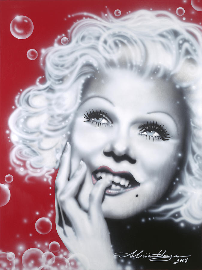 Jean Harlow Painting - Jean Harlow by Alicia Hayes