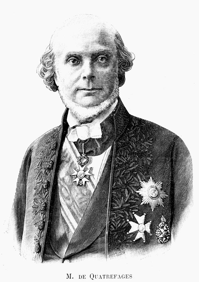 19th Century Photograph - Jean Louis Armand De Quatrefages by Collection Abecasis/science Photo Library