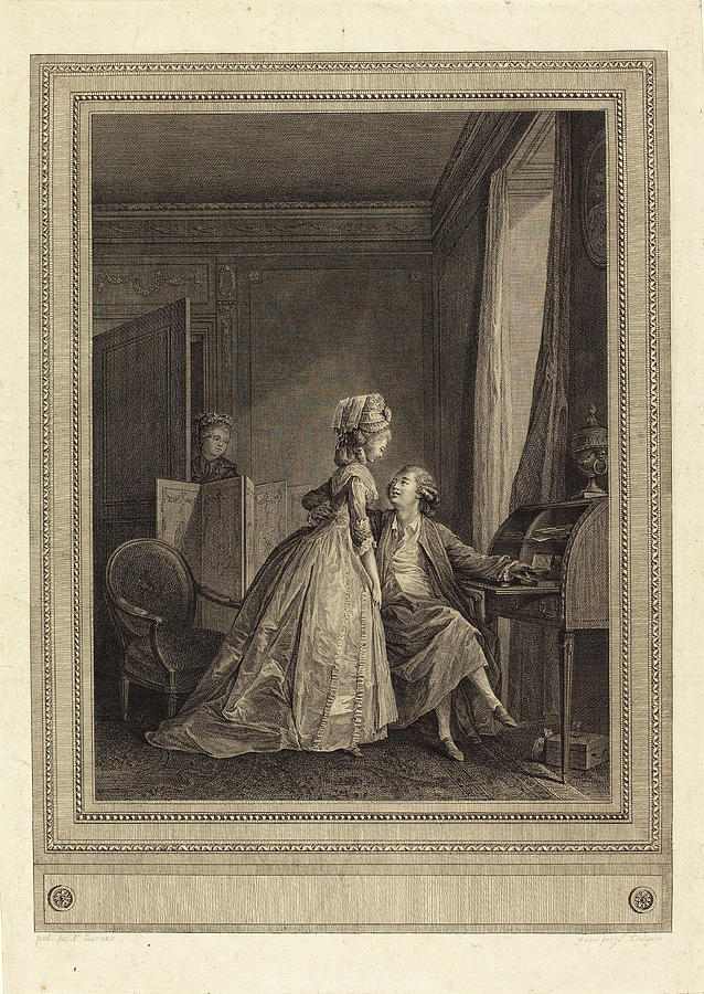Jean-louis Drawing - Jean-louis Delignon After Nicolas Lavreince French by Quint Lox
