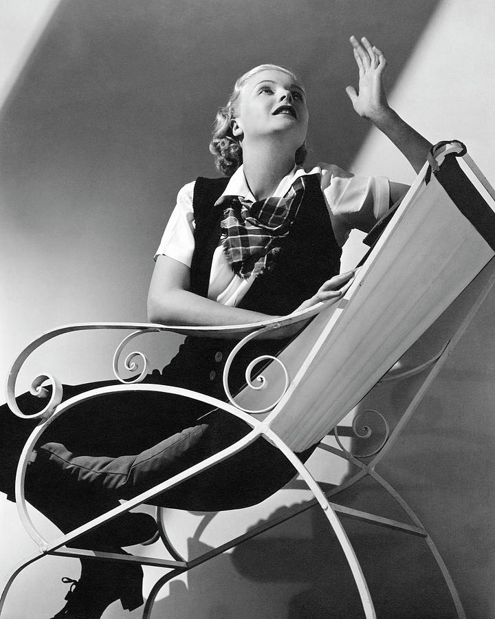 Jean Muir Sitting On A Chair Photograph by Edward Steichen 646d77b9c