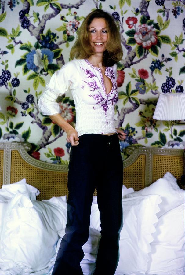 Jean Vanderbilt In Her Bedroom Photograph by Arthur Elgort