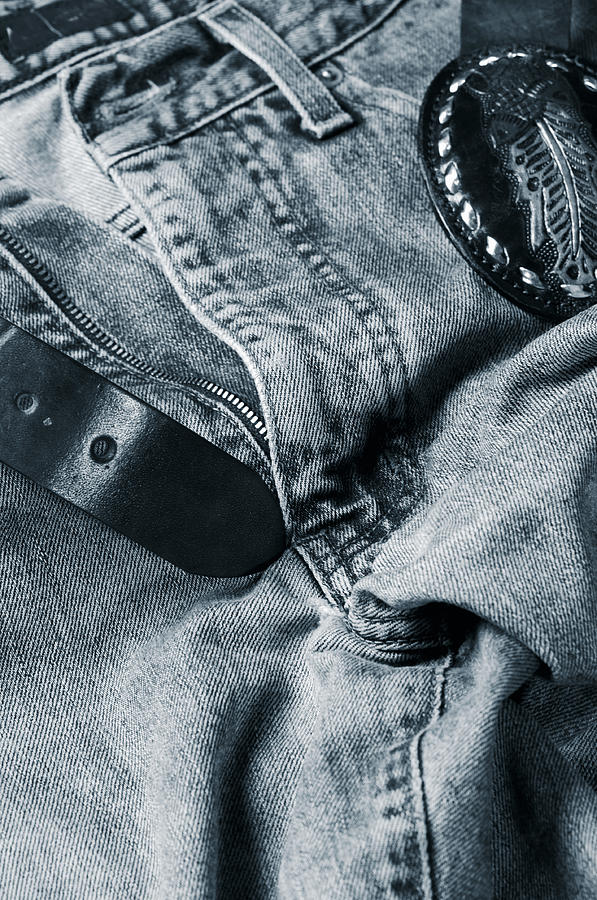 Jeans Photograph - Jeans And Denim In Blue by Christian Lagereek