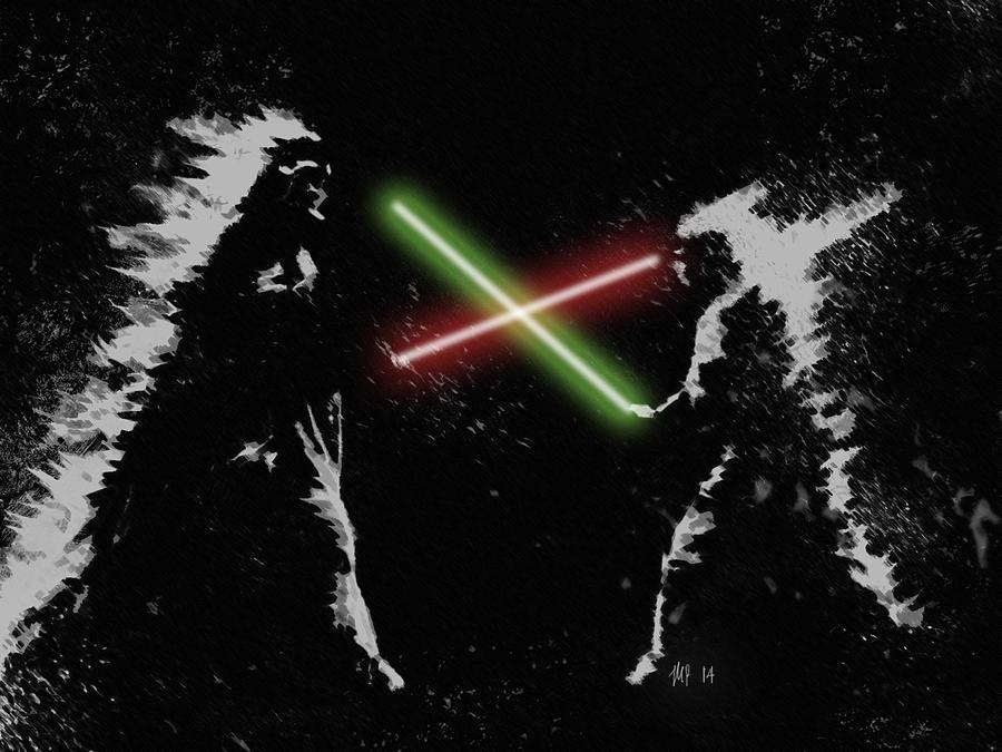 Jedi Duel Digital Art