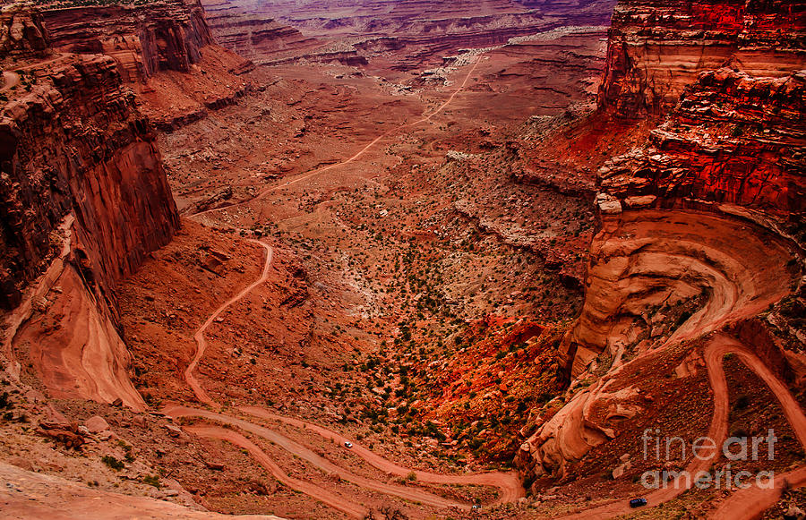 Panoramic Photograph - Jeep Trails by Robert Bales