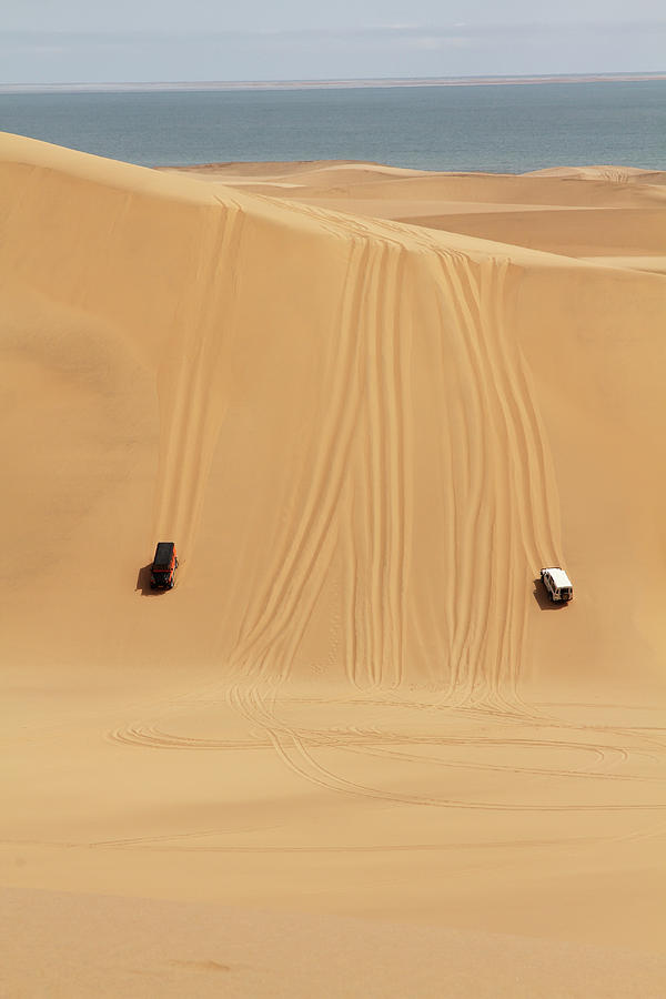 Jeeps In The Dessert Of Namibia Photograph by Eugene Bakker Photography