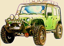 Jeeps Painting - Jeeps by Suhaimy Abdullah