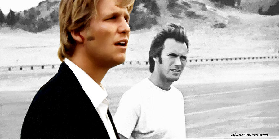 Jeff Bridges Digital Art - Jeff Bridges and Clint Eastwood in the film Thunderbolt and Lightfoot - Michael Cimino - 1974 by Gabriel T Toro