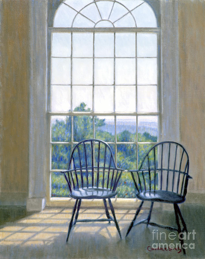Thomas Painting - Jefferson And A Friend At Monticello by Candace Lovely