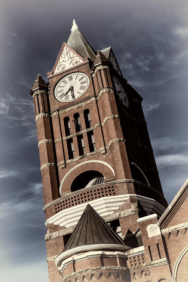 Joan Carroll Photograph - Jefferson County Courthouse Clock Tower by Joan Carroll