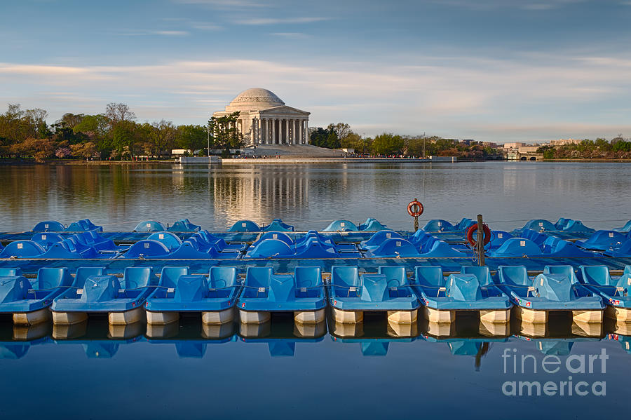 Paddle Boats Photograph - Jefferson Memorial And Paddle Boats by Jerry Fornarotto