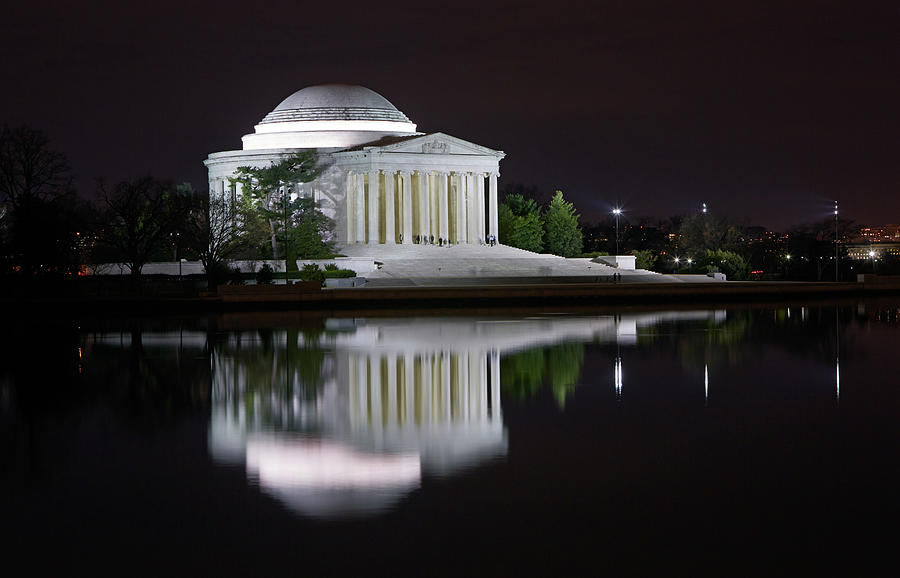 Jefferson Memorial At Night Photograph by Allan Baxter