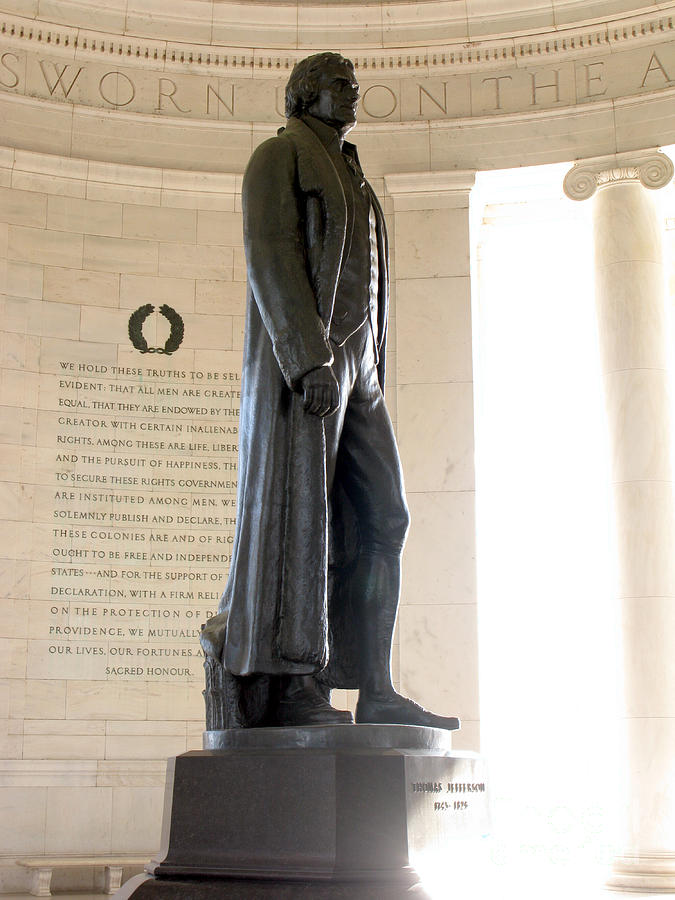 Washington Photograph - Jefferson Memorial In Washington Dc by Olivier Le Queinec