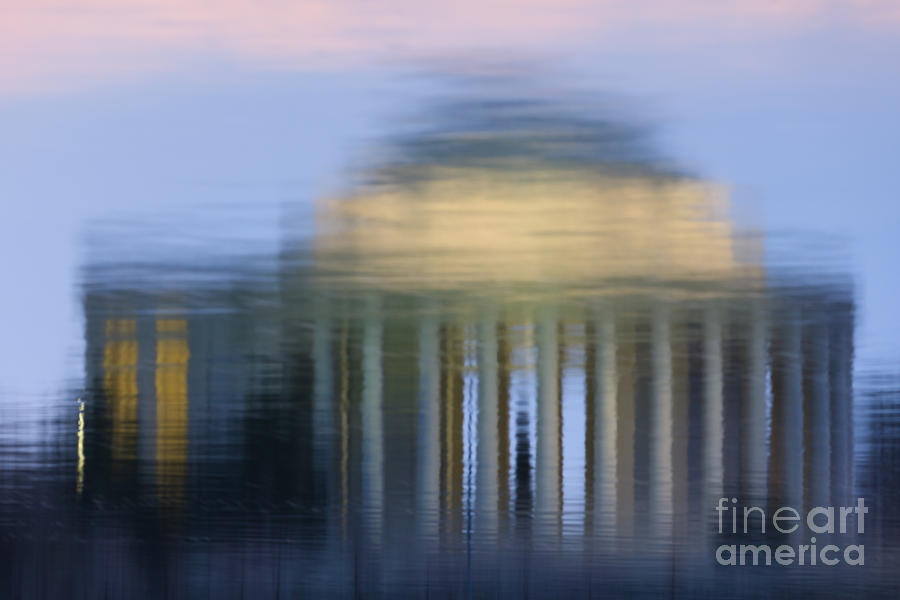 Clarence Holmes Photograph - Jefferson Memorial Reflection by Clarence Holmes