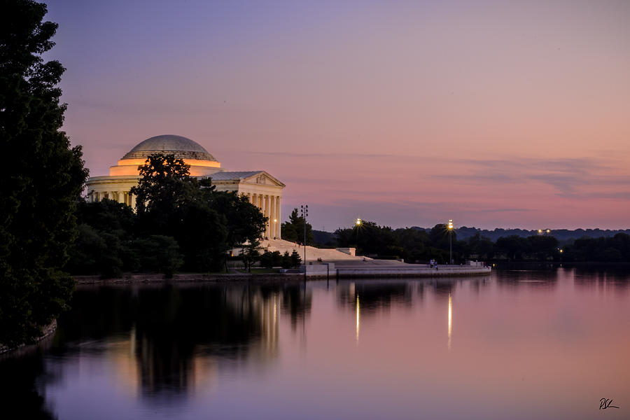 Jefferson Memorial Photograph - Jefferson Memorial Sunset by Pat Scanlon