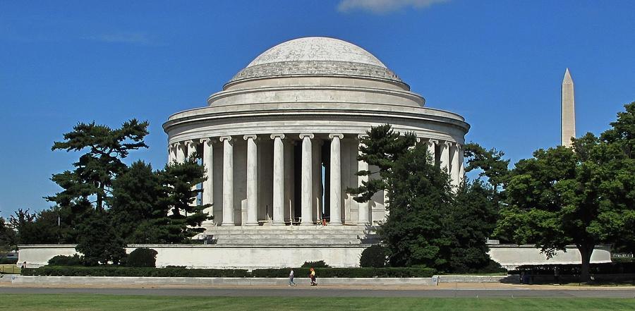 Thomas Photograph - Jefferson Memorial Washington by Ian  MacDonald