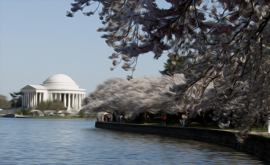 Cherry Blossoms Digital Art - Jeffersonian Blossoms by Kelvin Booker