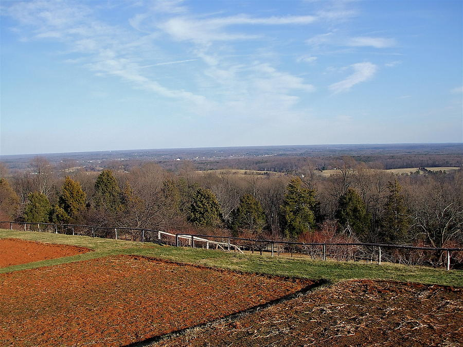 Heights Photograph - Jeffersons View From Monticello by Susan Wyman