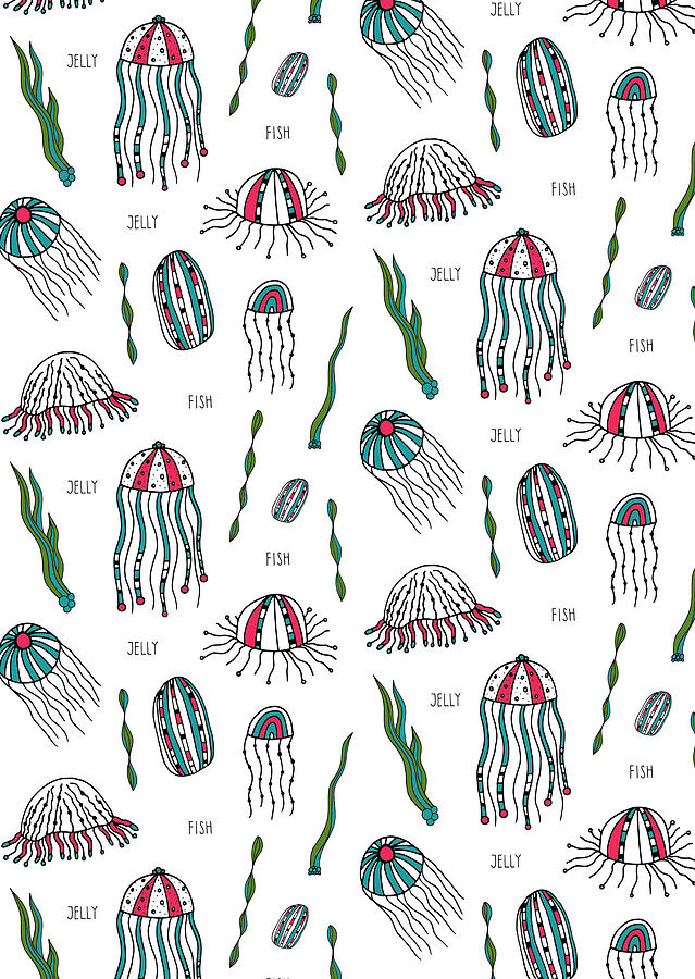 Pattern Photograph - Jellyfish Repeat Print by Susan Claire