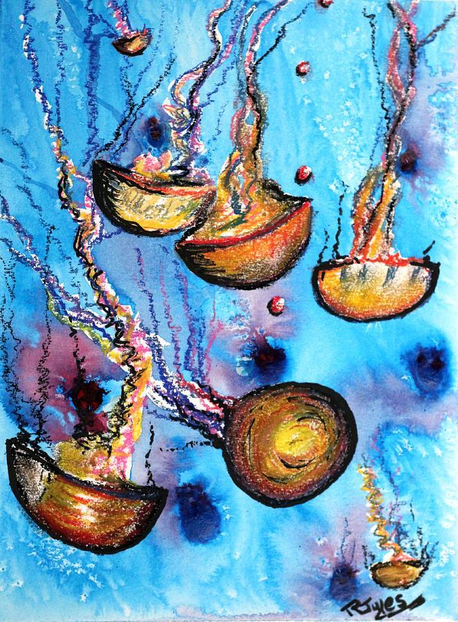 Jellyfish Painting - Jellyfish by Richard Jules