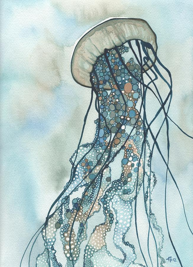 Jellyfish three painting by tamara phillips for Jelly fish painting