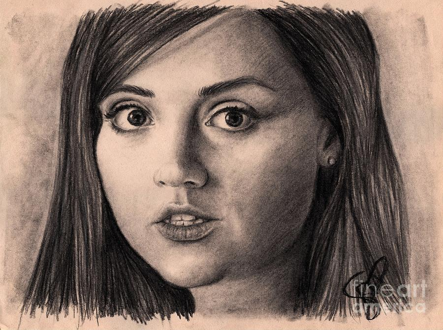Jenna Louise Coleman Drawing - Jenna-louise Coleman by Rosalinda Markle