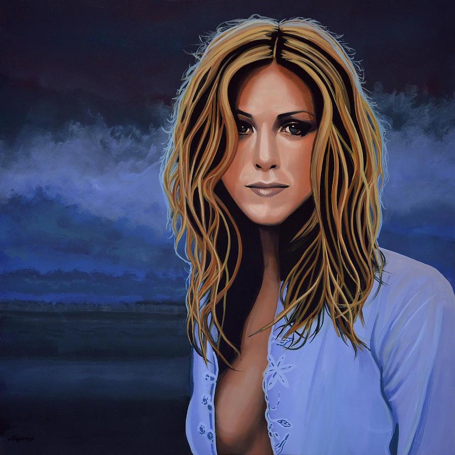 Jennifer Aniston Painting - Jennifer Aniston Painting by Paul Meijering