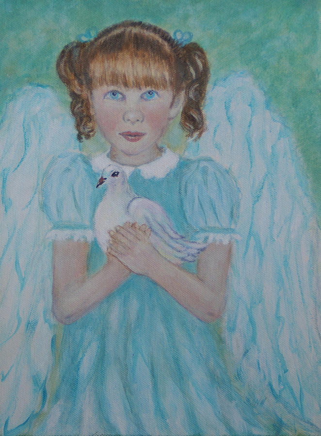 Angel Painting - Jenny Little Angel Of Peace And Joy by The Art With A Heart By Charlotte Phillips