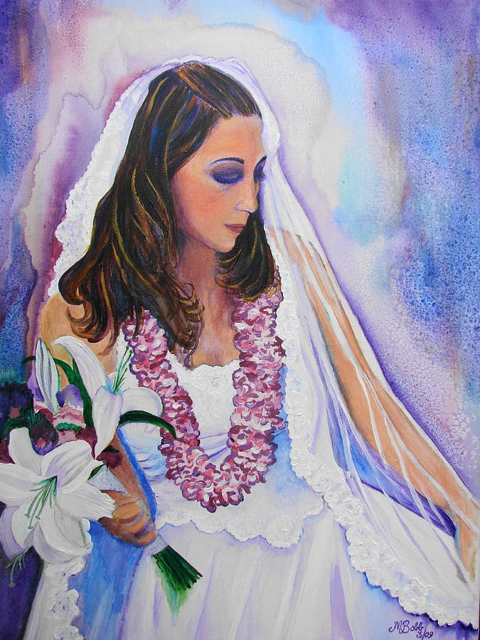 Bride Painting - Jenny by Margaret Bobb
