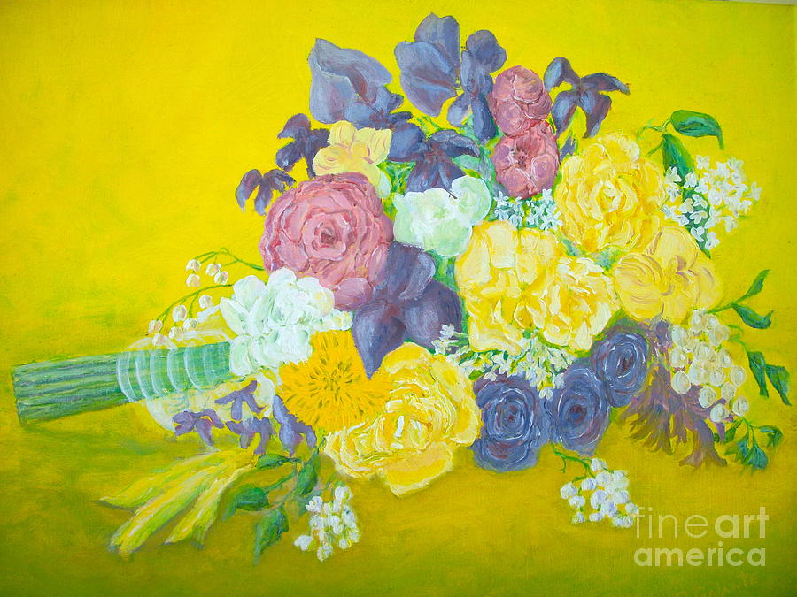 Wedding Bouquet Painting - Jens Wedding Bouquet by Paul Galante